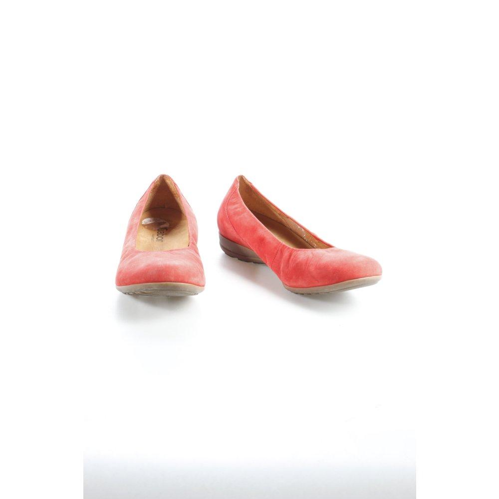 gabor ballerina rosso elegante donna taglia it 39 scarpa. Black Bedroom Furniture Sets. Home Design Ideas