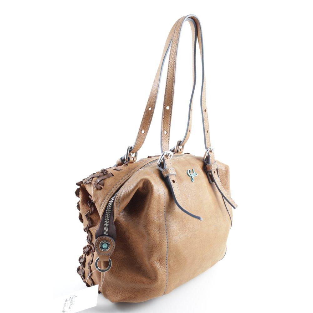 gabs handtasche hellbraun casual look damen tasche bag leder handbag ebay. Black Bedroom Furniture Sets. Home Design Ideas