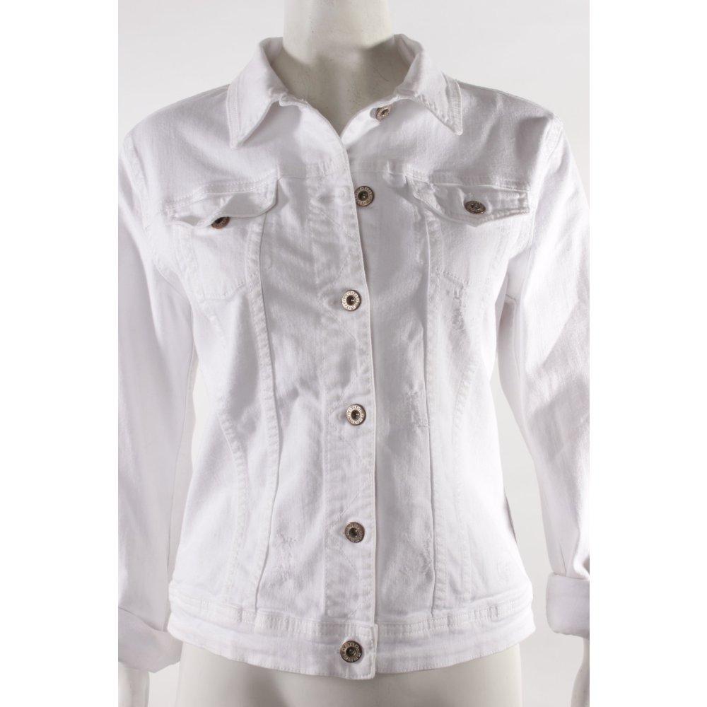 gang jeansjacke wei damen gr de 40 wei jacke jacket baumwolle denim jacket ebay. Black Bedroom Furniture Sets. Home Design Ideas