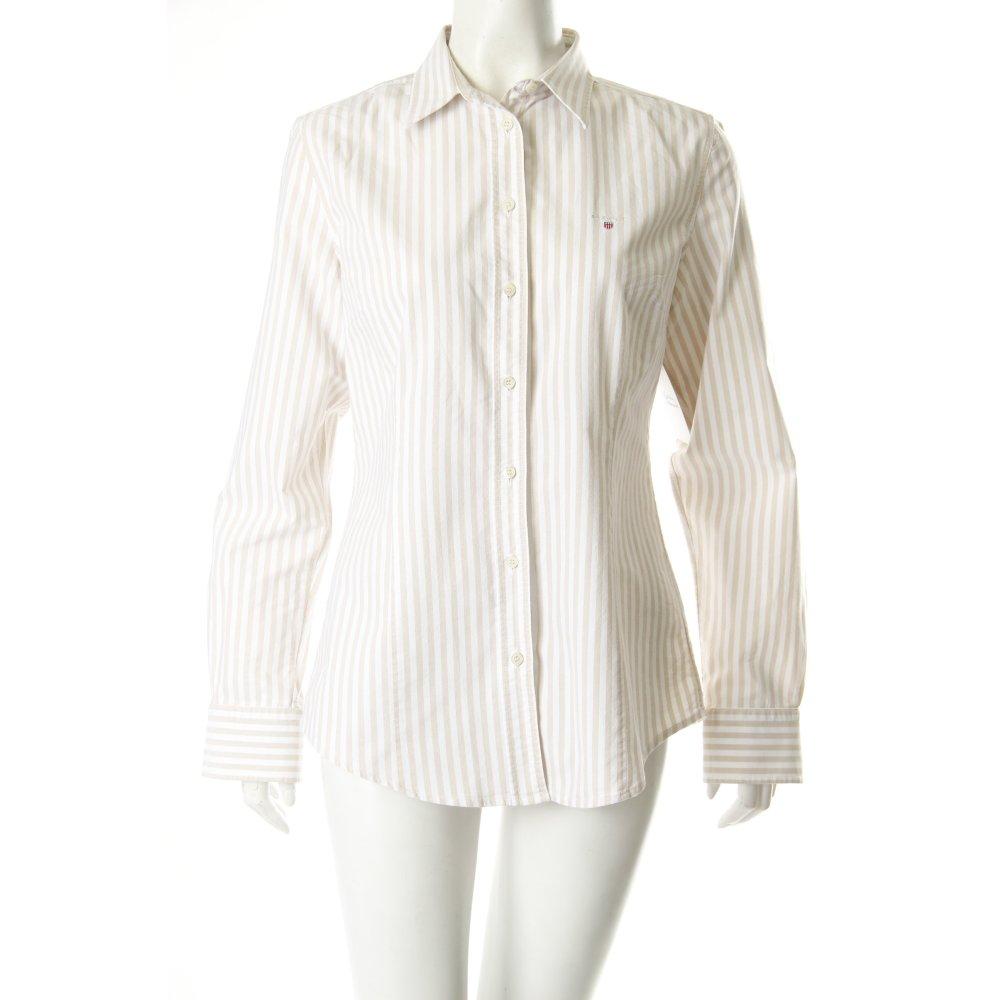 GANT Bluse beige-weiß gestreift Damen Gr. DE 40 weiß ...
