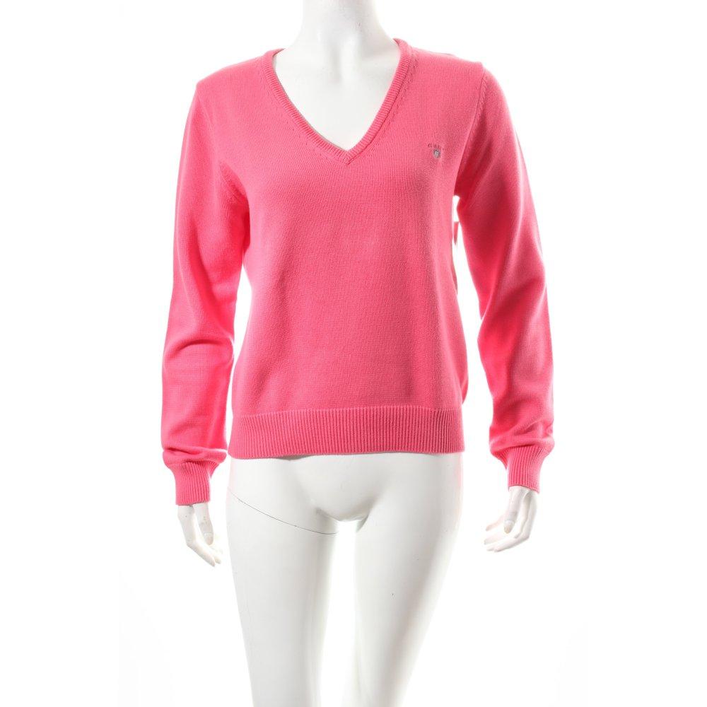 gant v ausschnitt pullover pink klassischer stil damen gr de 40 sweater ebay. Black Bedroom Furniture Sets. Home Design Ideas