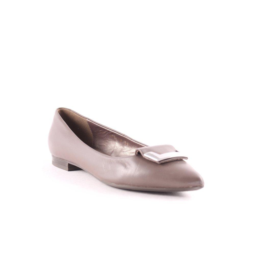 GEOX Ballerina a punta marrone argento elegante Donna Taglia IT 35