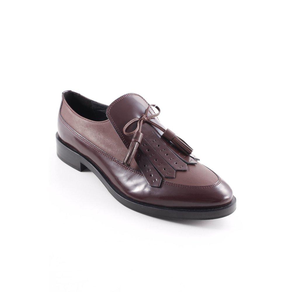 GEOX Mocassino nero bordeaux elegante Donna Taglia IT 40 Scarpa Calzature donna