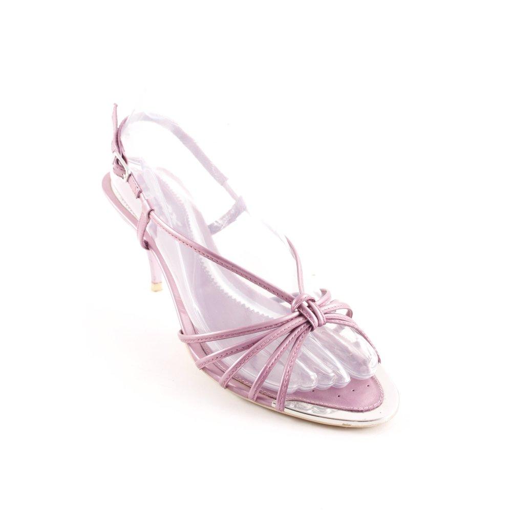 GEOX RESPIRA Sandalo con cinturino e tacco alto argento malva stile casual Donna