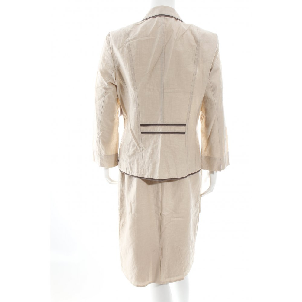 gerry weber anzug beige braun elegant damen gr de 38 suit ebay. Black Bedroom Furniture Sets. Home Design Ideas