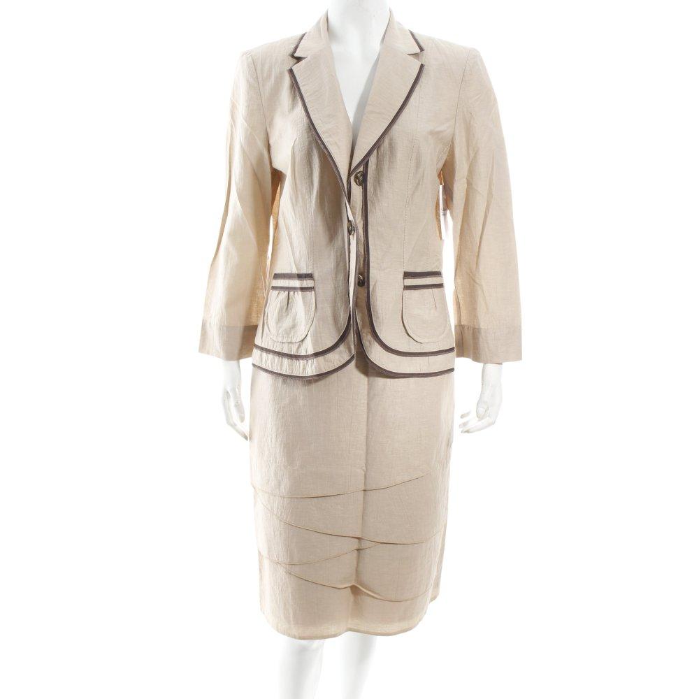 gerry weber anzug beige braun elegant damen gr de 38 suit. Black Bedroom Furniture Sets. Home Design Ideas