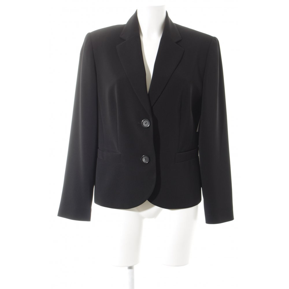 gerry weber kurz blazer schwarz elegant damen gr de 40. Black Bedroom Furniture Sets. Home Design Ideas
