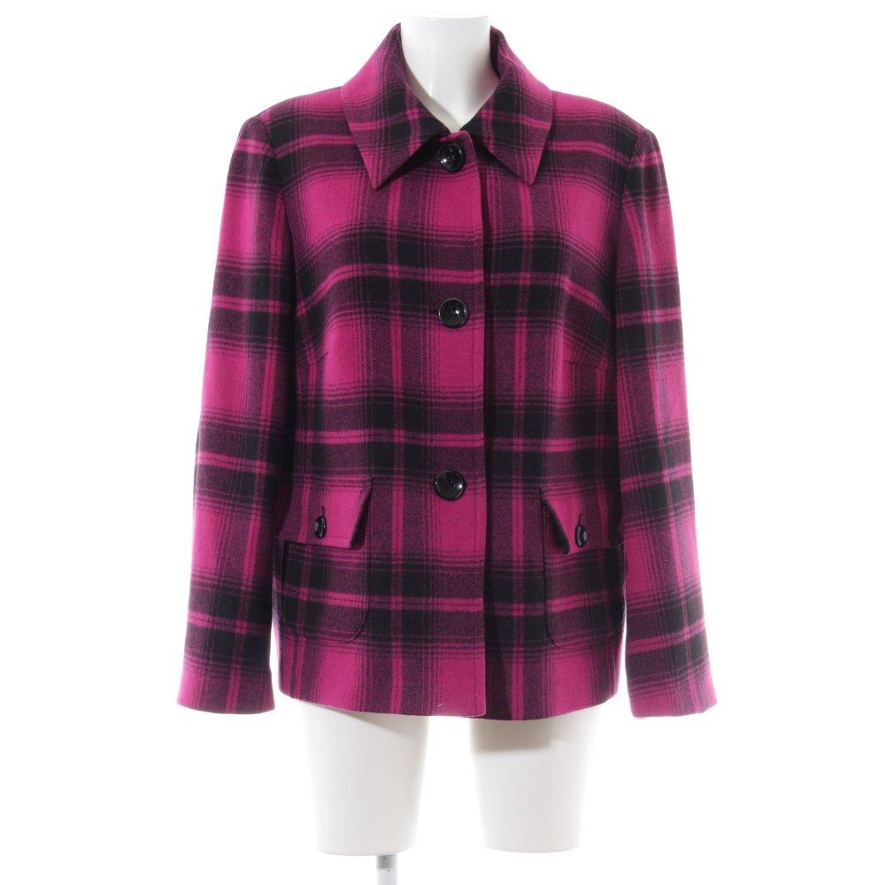 finest selection e9ea3 61eed Dettagli su GERRY WEBER Cappotto corto rosa-nero motivo a quadri stile  casual Donna