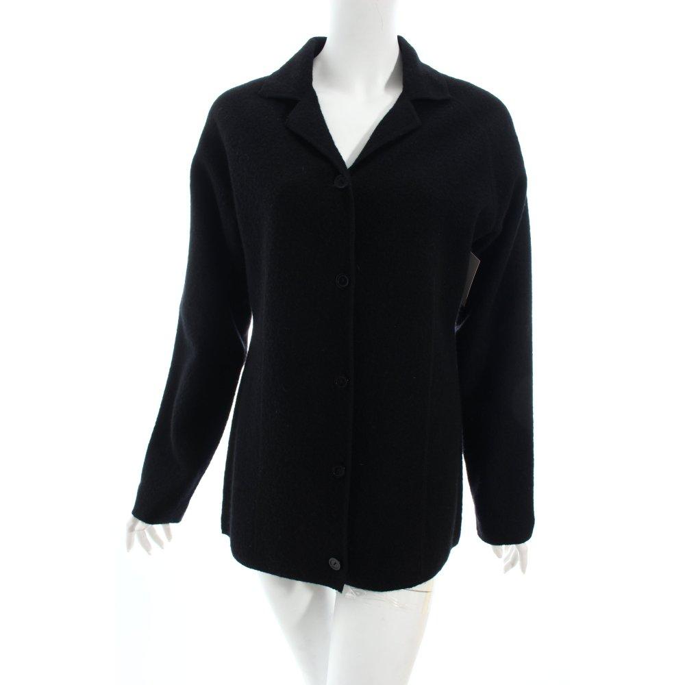 gerry weber wolljacke schwarz schlichter stil damen gr de 38 jacke jacket ebay. Black Bedroom Furniture Sets. Home Design Ideas
