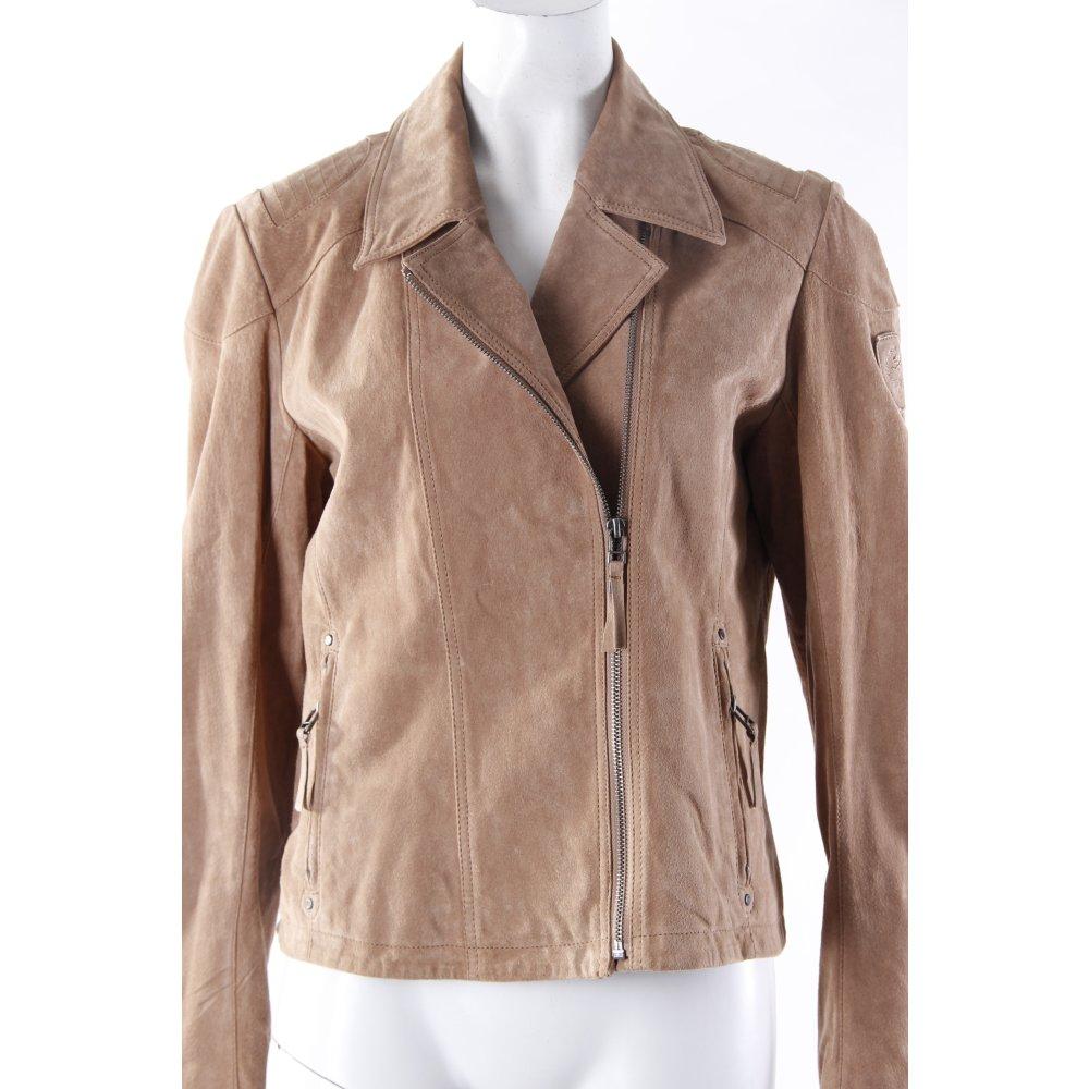 gipsy lederjacke hellbraun damen gr de 42 beige jacke jacket leder ebay. Black Bedroom Furniture Sets. Home Design Ideas