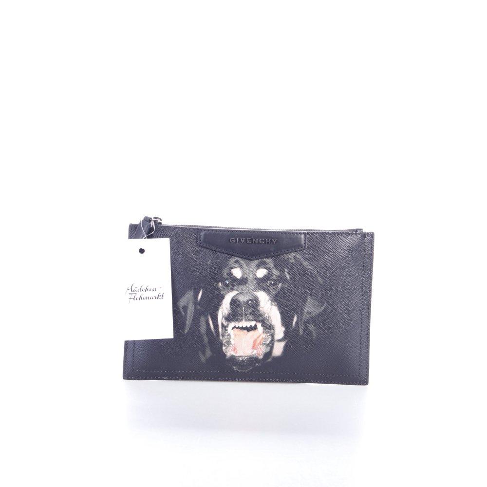 givenchy clutch rottweiler clutch schwarz damen tasche bag ebay. Black Bedroom Furniture Sets. Home Design Ideas