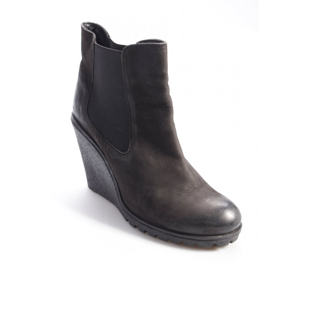 g rtz17 chelsea boots mit keilabsatz damen gr de 40 schwarz schuhe shoes ebay. Black Bedroom Furniture Sets. Home Design Ideas