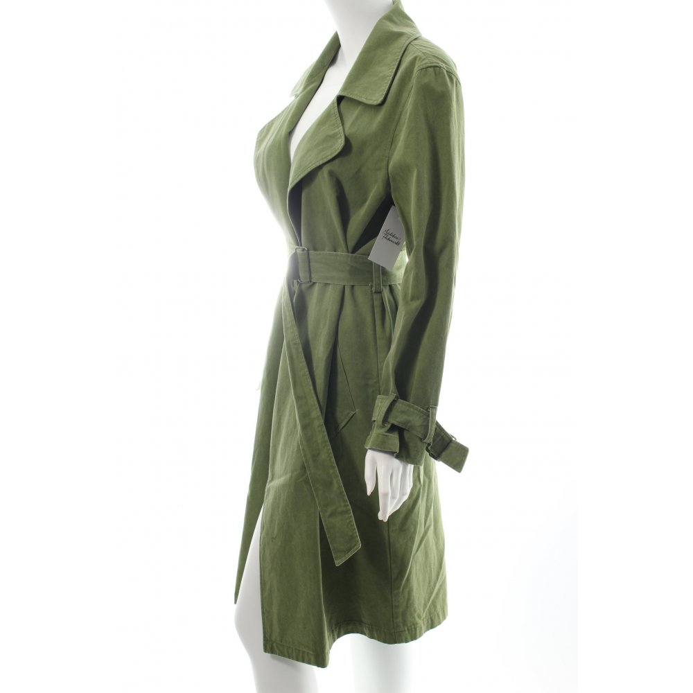 gr ne erde mantel grasgr n hippie look damen gr de 36 baumwolle coat ebay. Black Bedroom Furniture Sets. Home Design Ideas