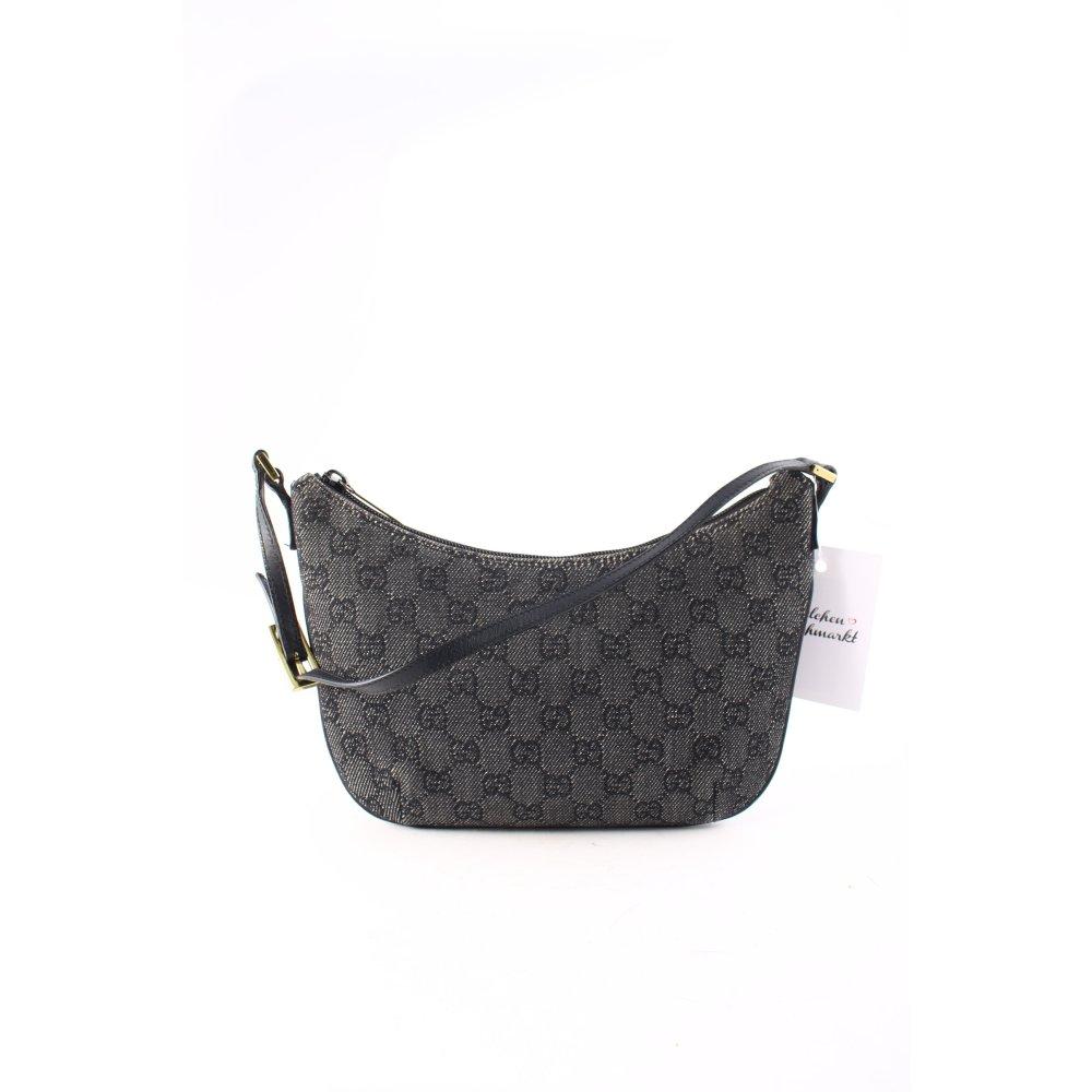 gucci clutch schwarz schlichter stil damen tasche bag. Black Bedroom Furniture Sets. Home Design Ideas