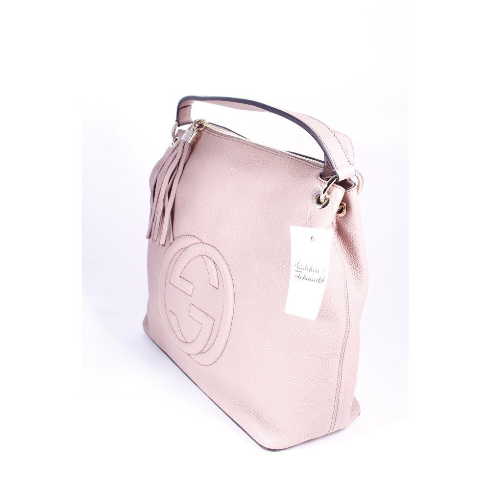 gucci handtasche altrosa casual look damen tasche bag handbag ebay. Black Bedroom Furniture Sets. Home Design Ideas