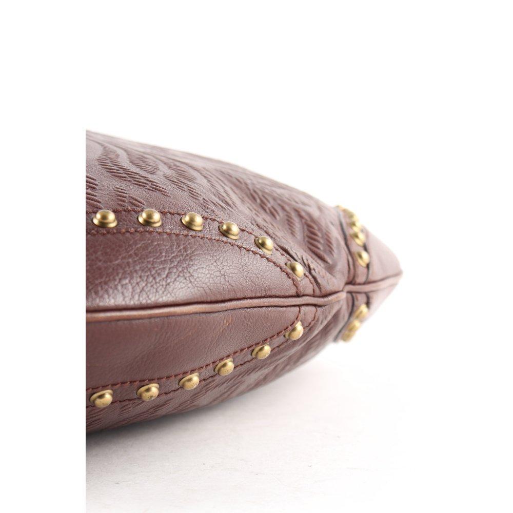 gucci handtasche dunkelbraun boho look damen tasche bag. Black Bedroom Furniture Sets. Home Design Ideas