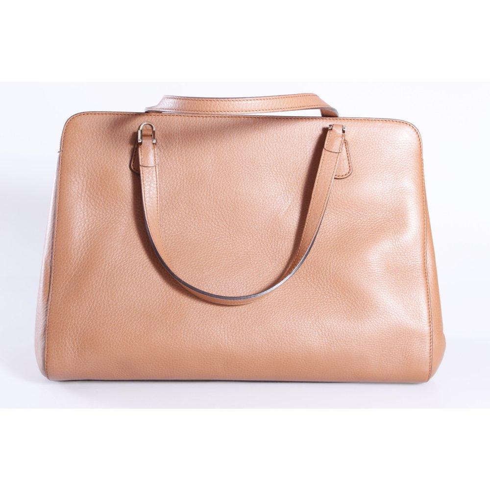 gucci henkeltasche label leather braun damen tasche bag leder carry bag ebay. Black Bedroom Furniture Sets. Home Design Ideas