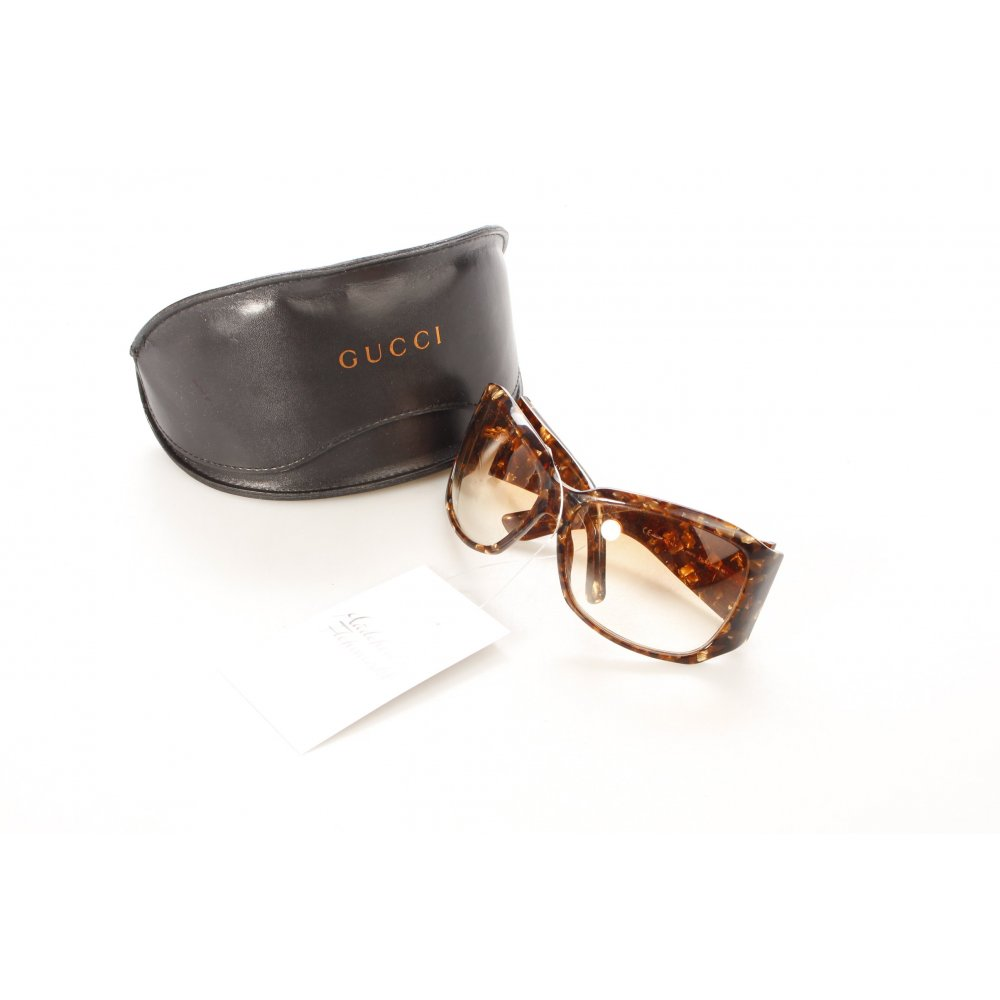 gucci kar e brille dunkelbraun beige extravaganter stil damen sonnenbrille ebay. Black Bedroom Furniture Sets. Home Design Ideas
