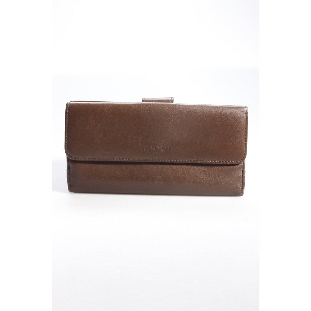gucci portemonnaie braun damen tasche bag geldb rse wallet. Black Bedroom Furniture Sets. Home Design Ideas