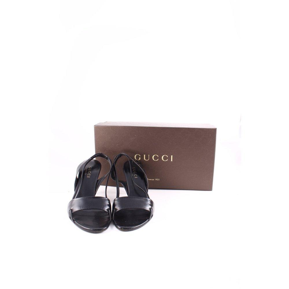 Gucci riemchen sandaletten schwarz klassischer stil damen for Klassischer stil