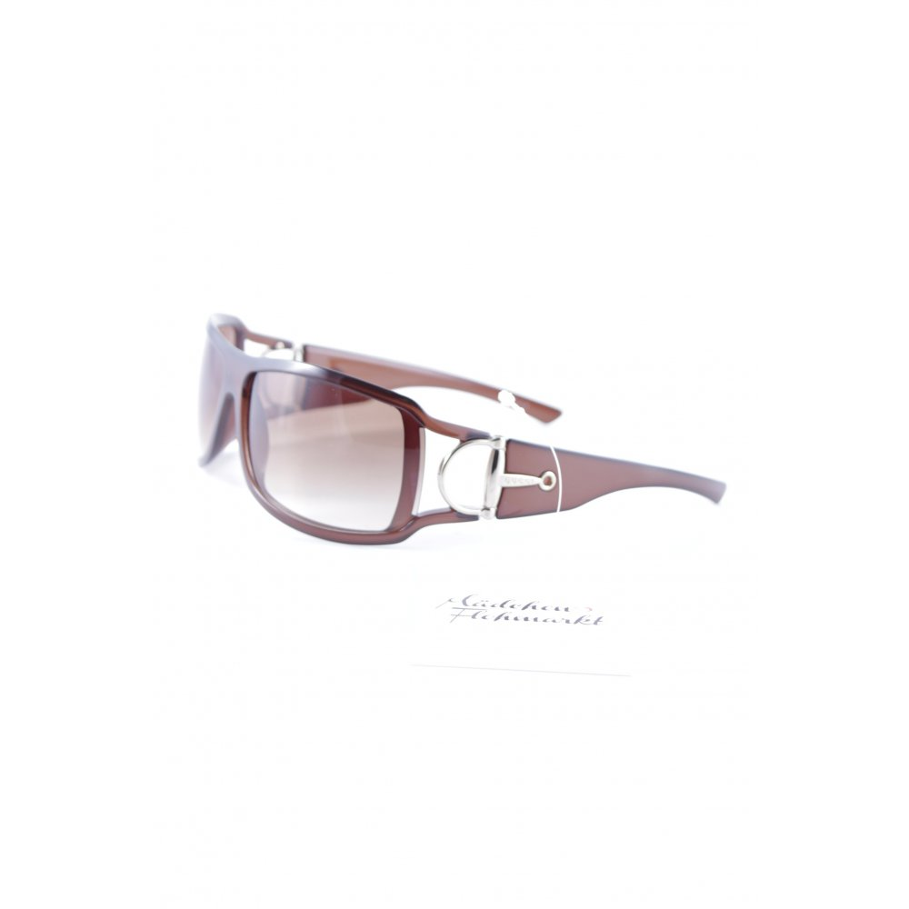 gucci runde sonnenbrille braun street fashion look damen sunglasses ebay. Black Bedroom Furniture Sets. Home Design Ideas