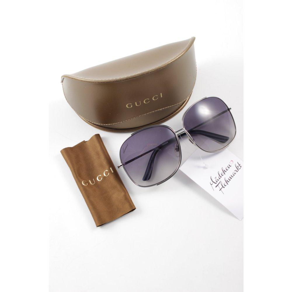 gucci runde sonnenbrille silberfarben damen sunglasses. Black Bedroom Furniture Sets. Home Design Ideas