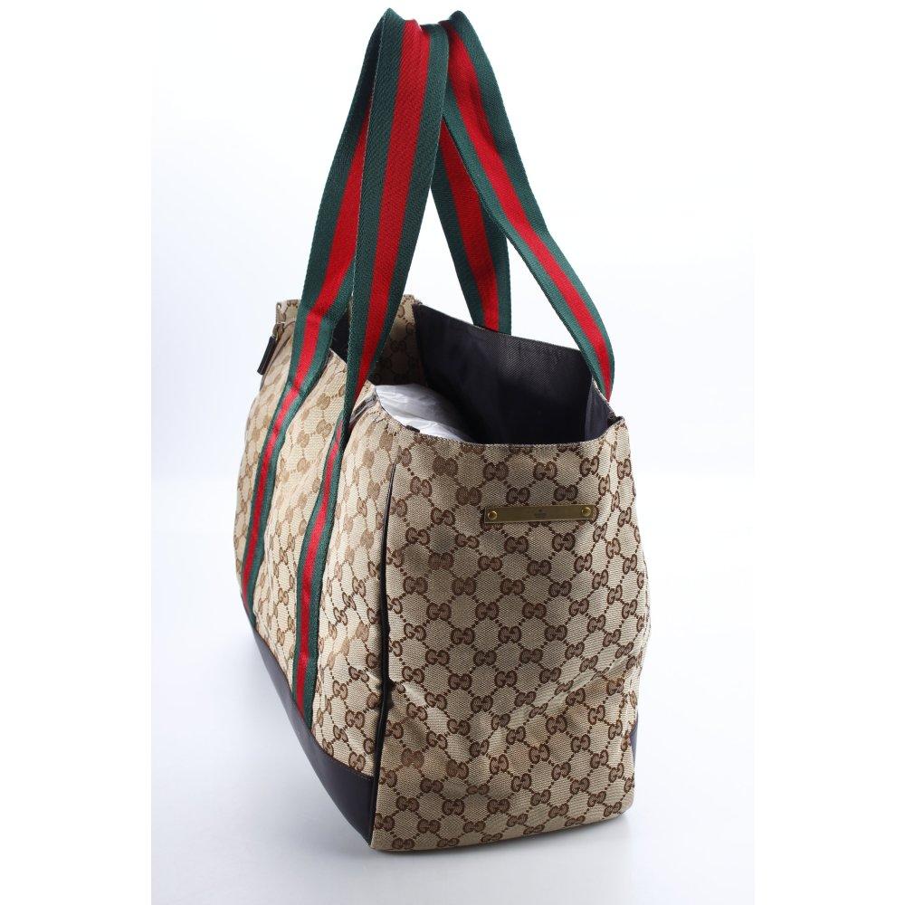 gucci shopper monogram muster eleganz look damen beige tasche bag ebay. Black Bedroom Furniture Sets. Home Design Ideas