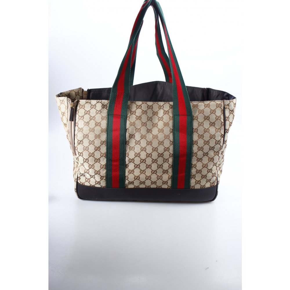 gucci shopper monogram muster eleganz look damen beige. Black Bedroom Furniture Sets. Home Design Ideas