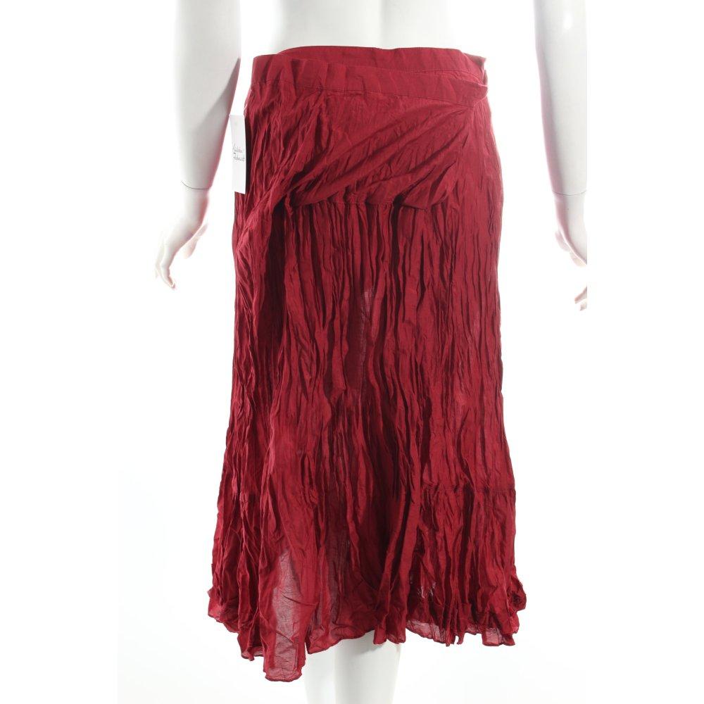 gudrun sj den crashrock karminrot casual look damen gr de 40 rock skirt ebay. Black Bedroom Furniture Sets. Home Design Ideas