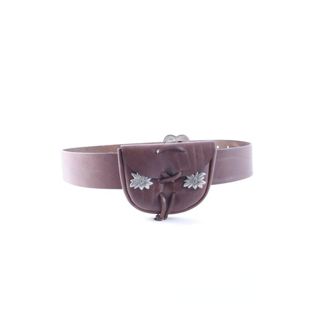 scegli originale acquista autentico design innovativo Dettagli su Cintura marrone stile country Donna