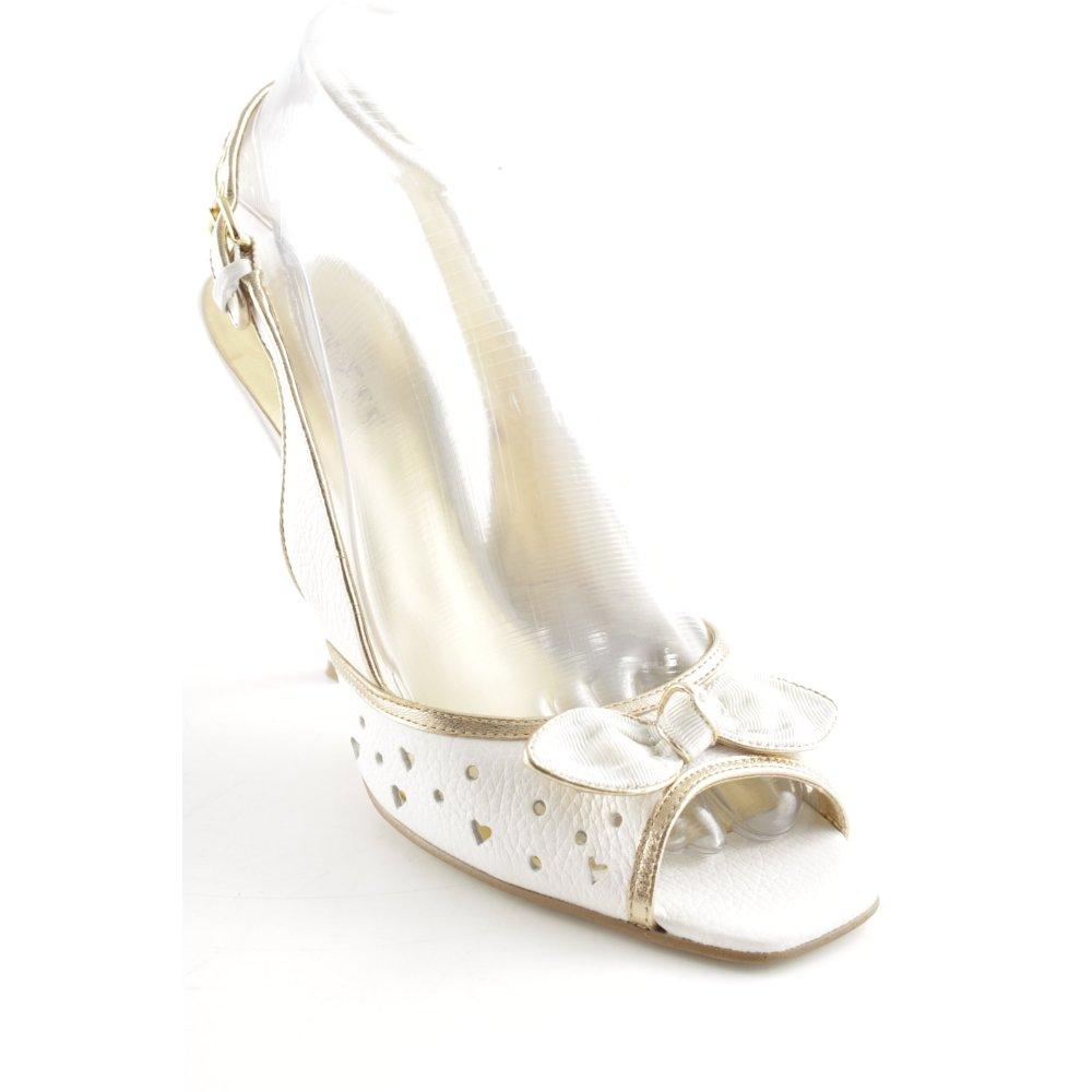 GUESS BY MARCIANO Sandaletto con tacco alto biancooro elegante Donna Pelle