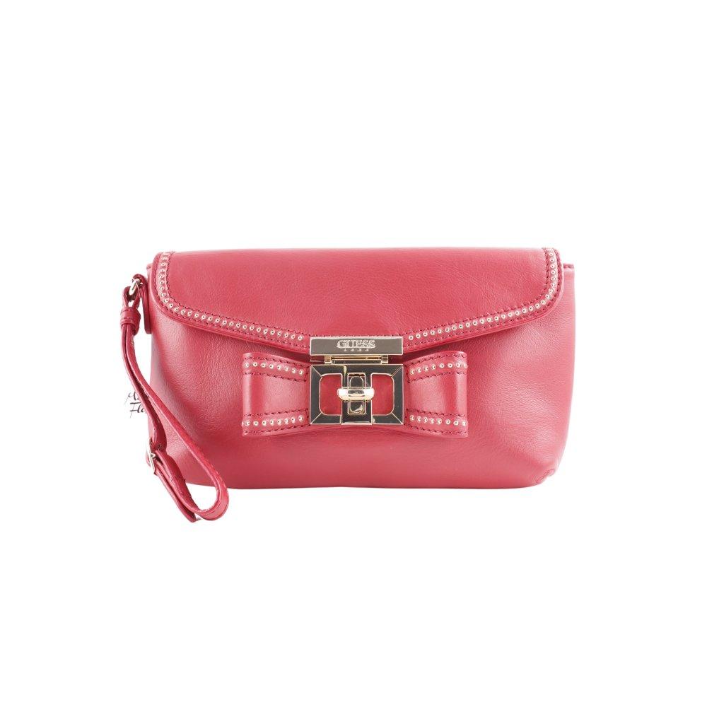 e5b975b5a17f3 GUESS Clutch rot Casual-Look Damen Tasche Bag