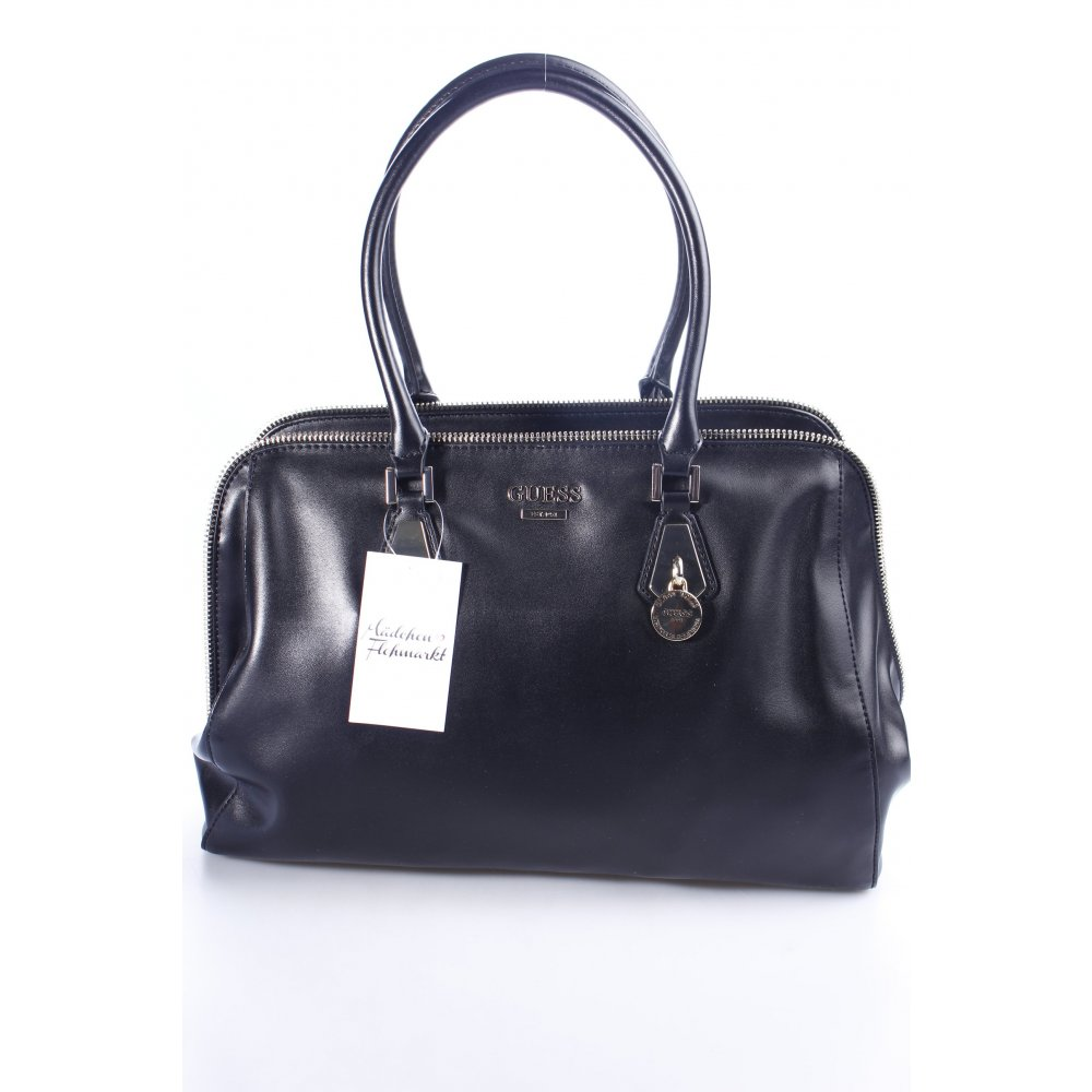 guess handtasche schwarz business look damen tasche bag handbag ebay. Black Bedroom Furniture Sets. Home Design Ideas