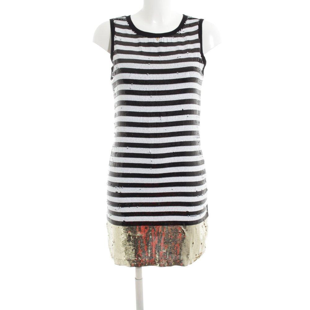 new styles 969fe 25807 Dettagli su GUESS Abito con paillettes motivo a righe stile casual Donna  Taglia IT 40 nero