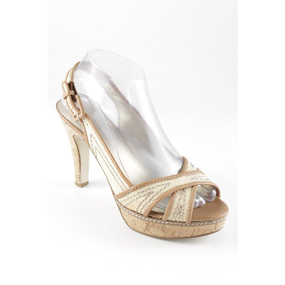 GUESS Sandalo con cinturino e tacco alto cremamarrone chiaro stile casual Donna