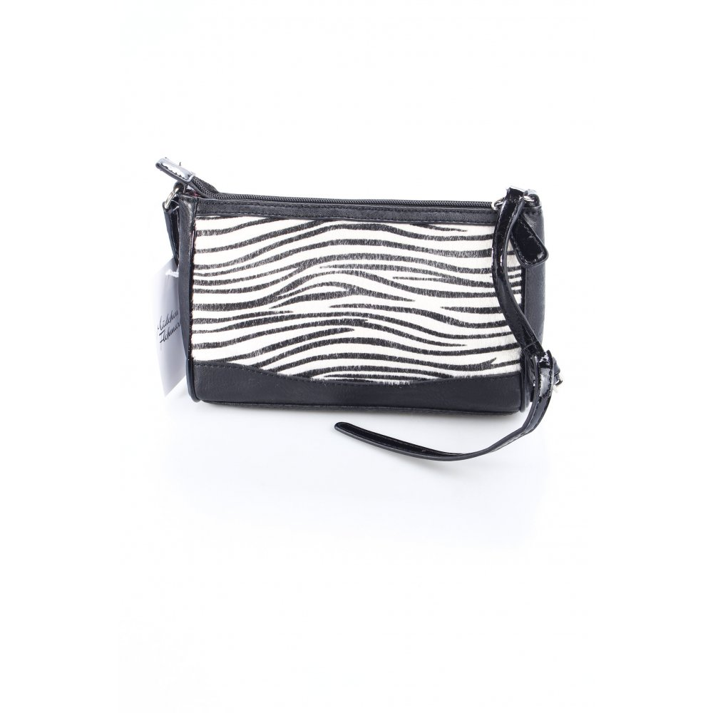 details about guess crossbody bag black white animal print women s. Black Bedroom Furniture Sets. Home Design Ideas