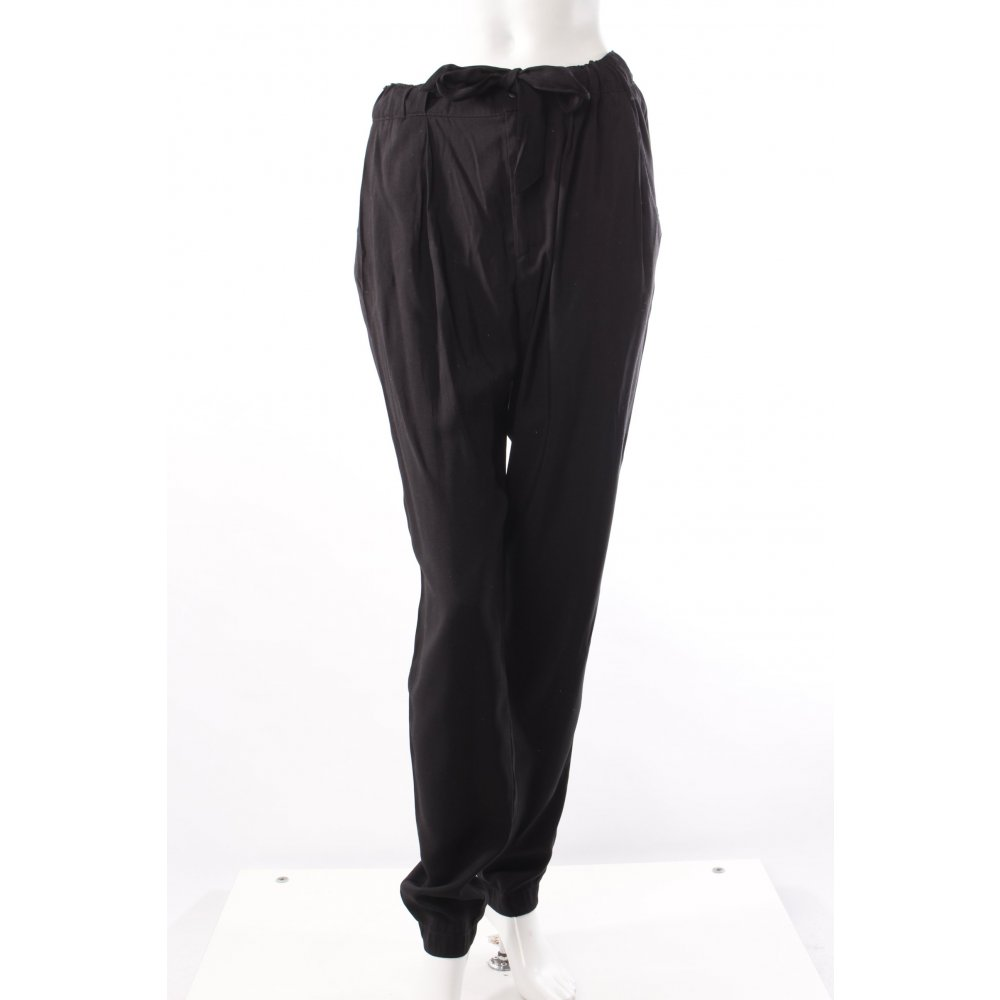 h m bundfaltenhose schwarz damen gr de 36 hose trousers pleated trousers ebay. Black Bedroom Furniture Sets. Home Design Ideas