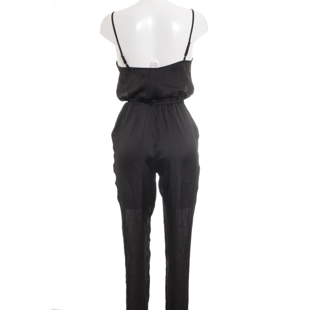 h m divided jumpsuit black elegant women s size uk 8. Black Bedroom Furniture Sets. Home Design Ideas