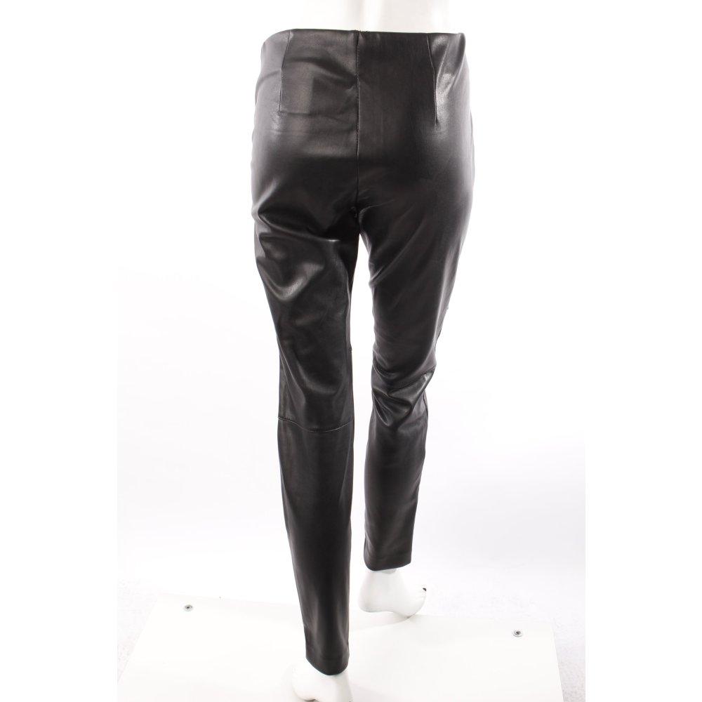 h m hose in lederoptik schwarz damen gr de 38 trousers ebay. Black Bedroom Furniture Sets. Home Design Ideas