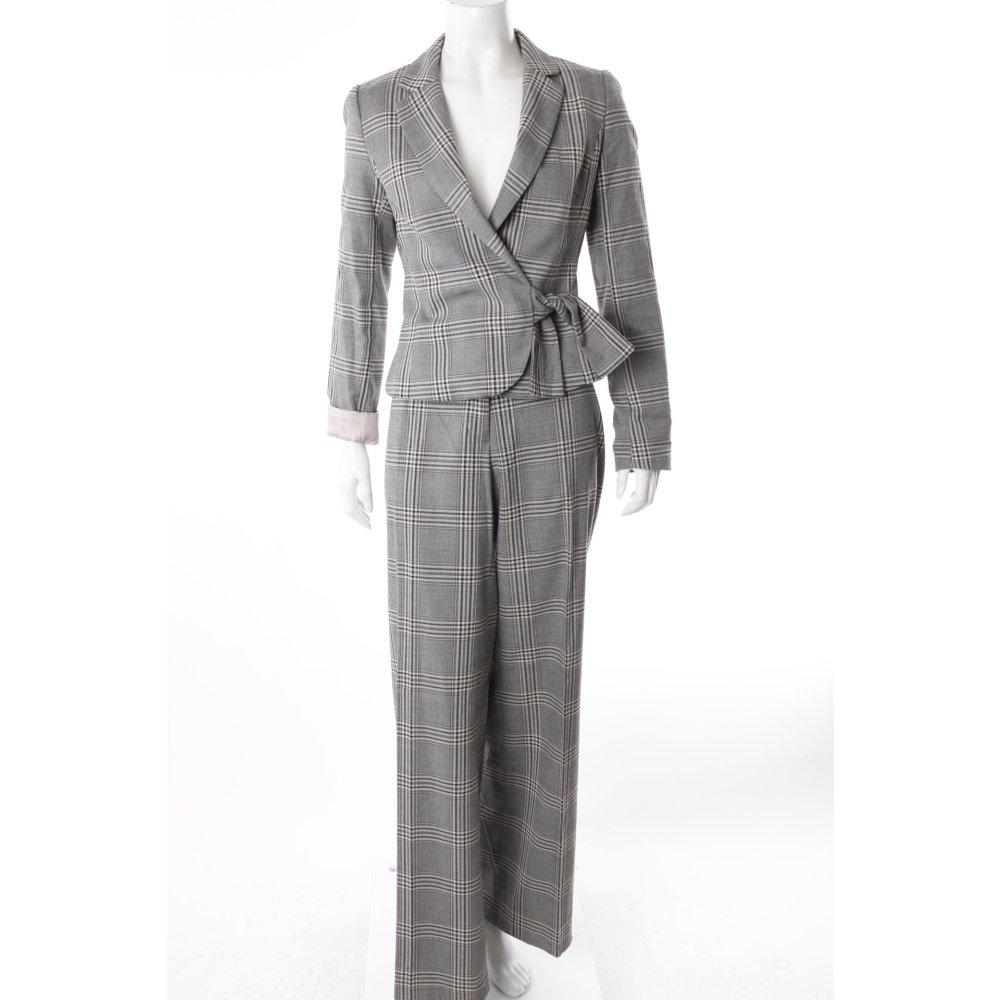 h m hosenanzug grau kariert damen gr de 36 anzug suit. Black Bedroom Furniture Sets. Home Design Ideas