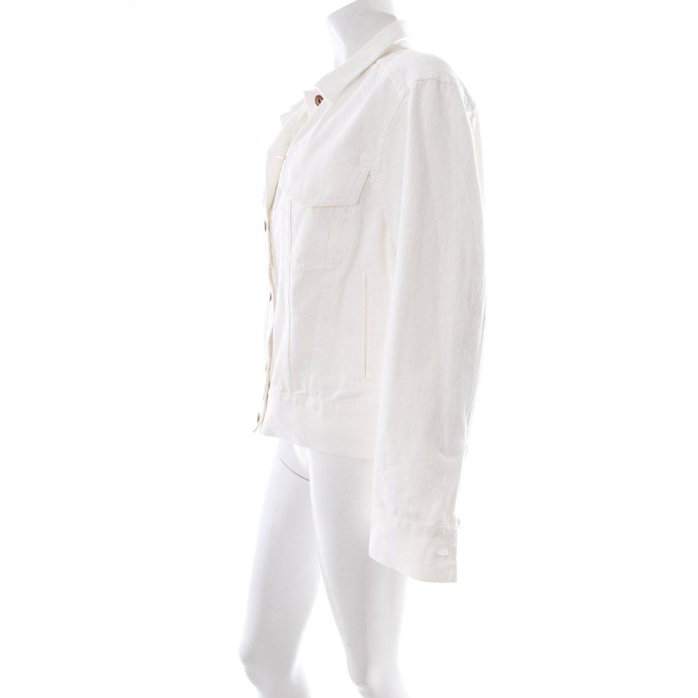 h m jeansjacke wei damen gr de 38 wei jacke jacket baumwolle denim jacket ebay. Black Bedroom Furniture Sets. Home Design Ideas