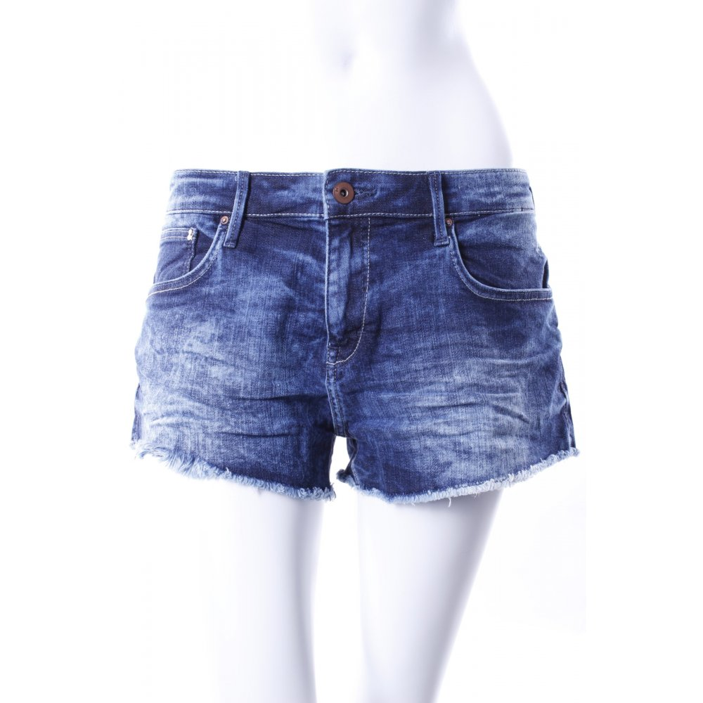 h m jeansshorts dunkelblau damen gr de 40 denim shorts. Black Bedroom Furniture Sets. Home Design Ideas
