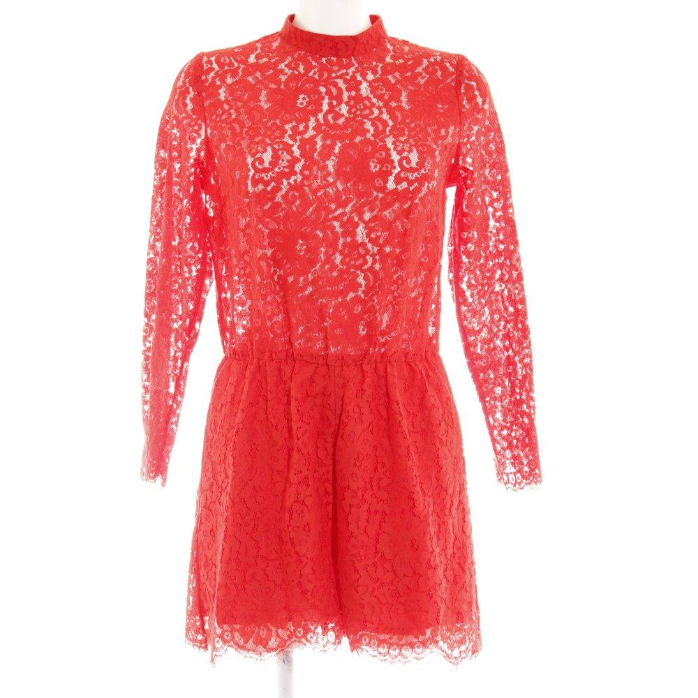 handicaps structurels bonne vente de chaussures grande vente Détails sur H&M Combinaison rouge Aspect de dentelles Dames T 40 Pantalon