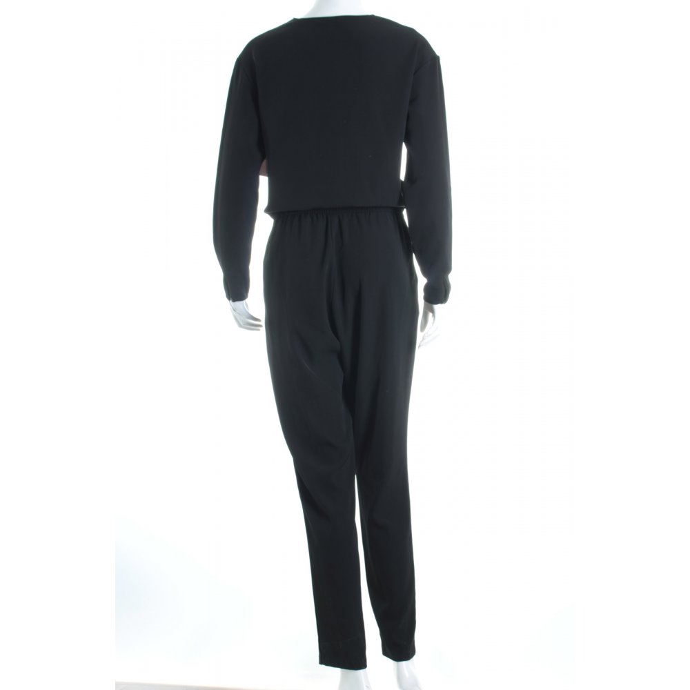 h m jumpsuit schwarz klassischer stil damen gr de 36 hose. Black Bedroom Furniture Sets. Home Design Ideas