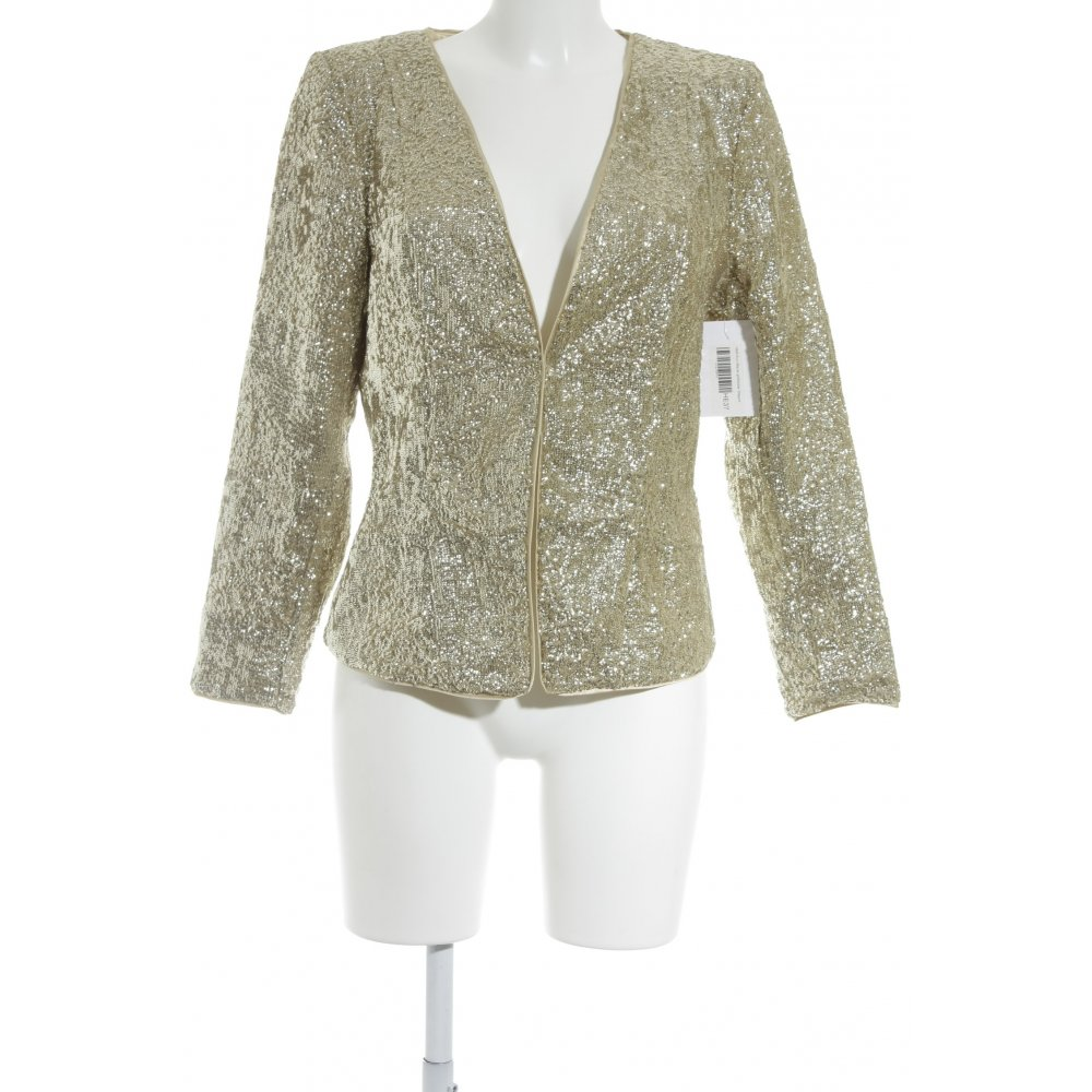 h m kurz blazer goldfarben elegant damen gr de 44 short blazer ebay. Black Bedroom Furniture Sets. Home Design Ideas
