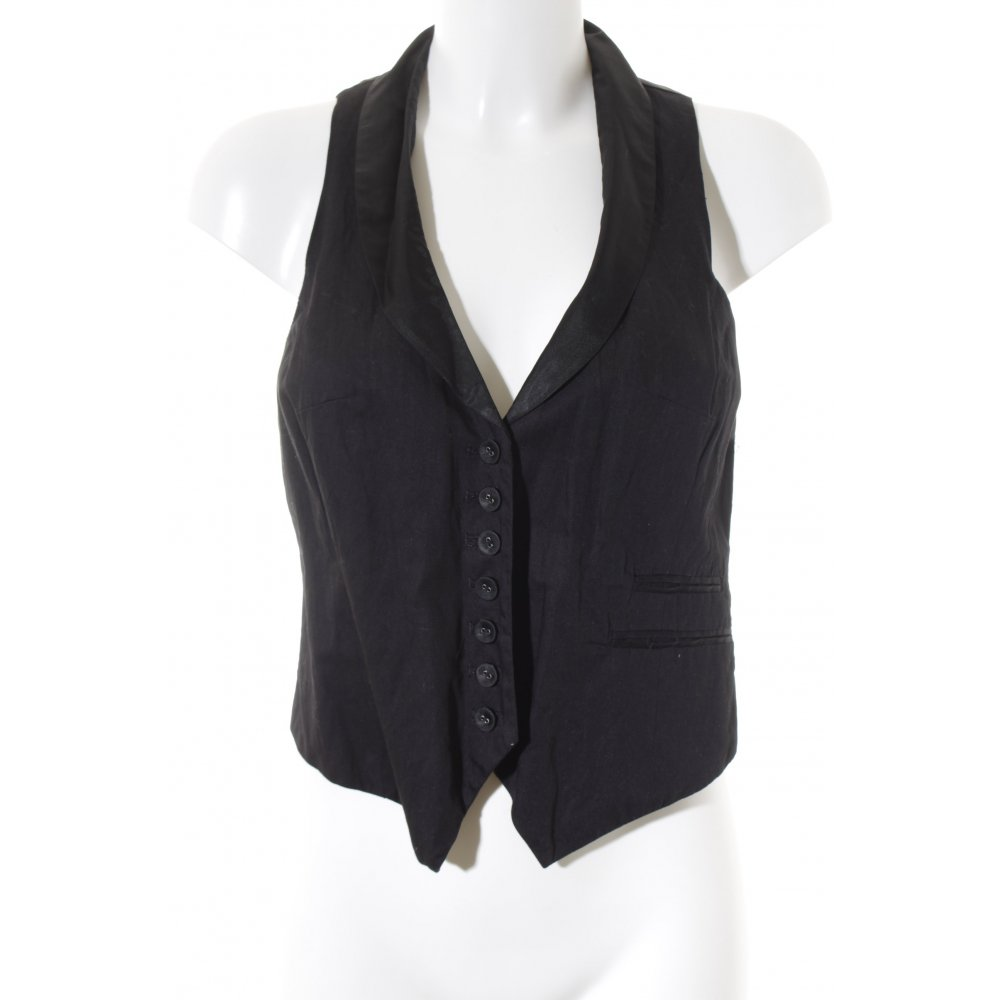 h m kurz blazer schwarz casual look damen gr de 36 short. Black Bedroom Furniture Sets. Home Design Ideas