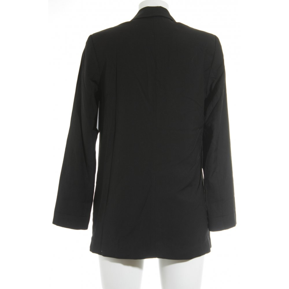 h m long blazer schwarz klassischer stil damen gr de 36. Black Bedroom Furniture Sets. Home Design Ideas
