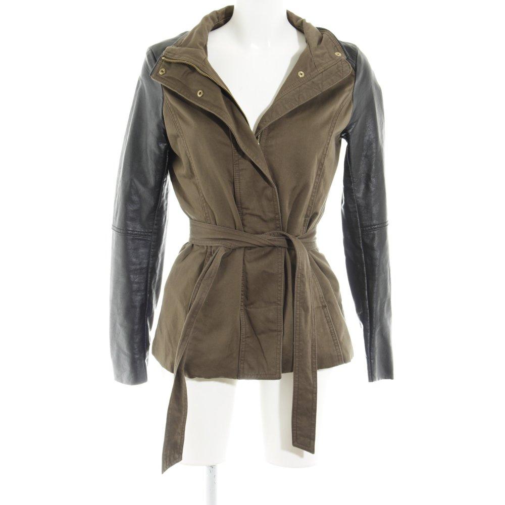 H&M Giacca in pelle marrone nero stile casual