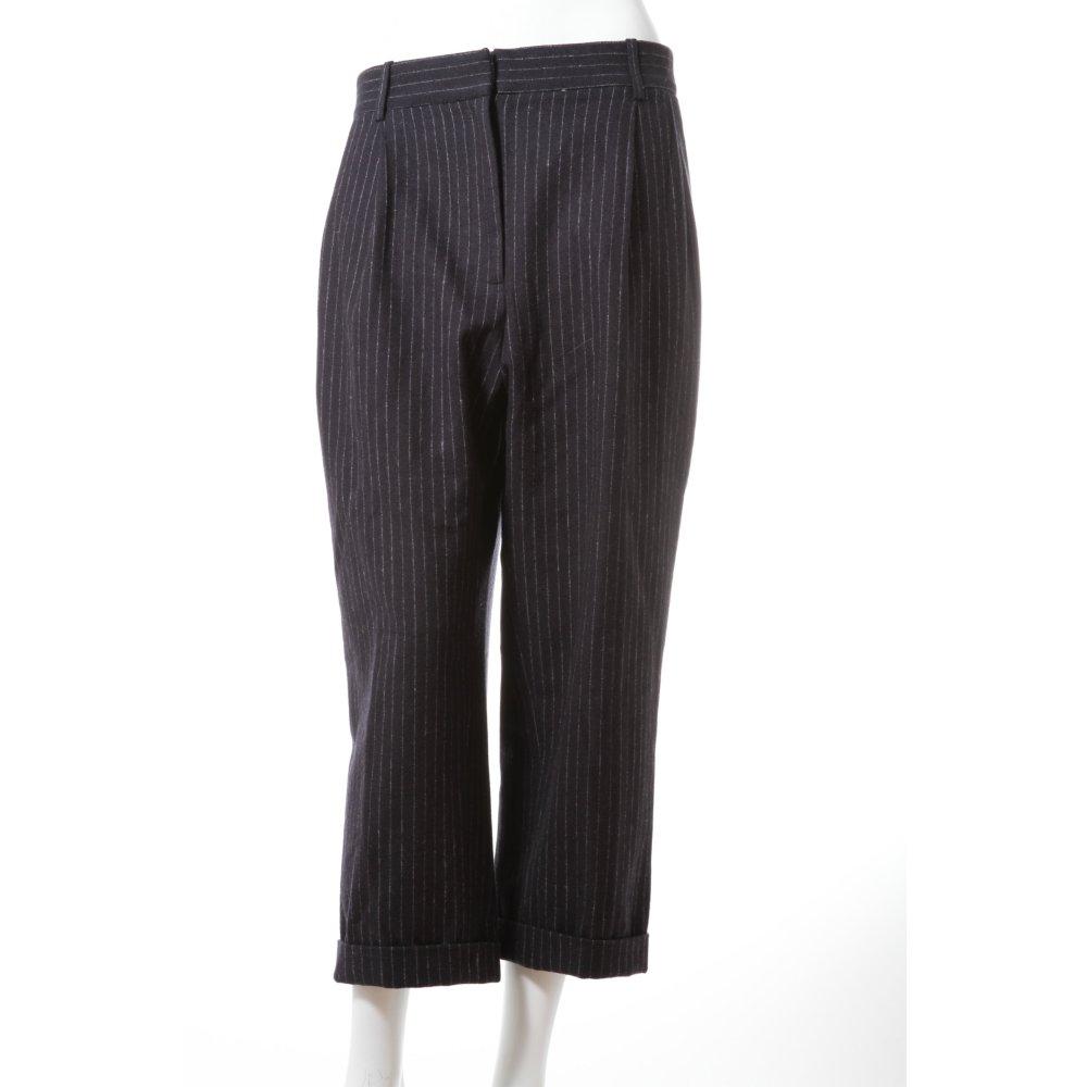 h m nadelstreifen hose damen gr de 38 schwarz trousers ebay. Black Bedroom Furniture Sets. Home Design Ideas