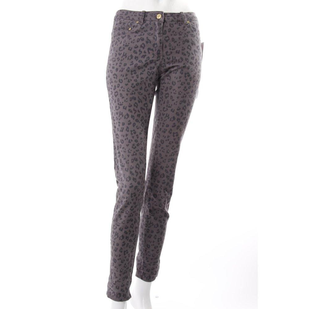 h m skinny jeans grau leoprint damen gr de 36 baumwolle. Black Bedroom Furniture Sets. Home Design Ideas